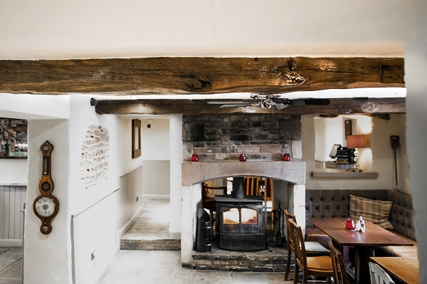 eclaimed Oak Beams at The Dressers Arms